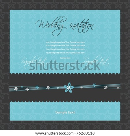 Wedding invitation, vector - stock vector