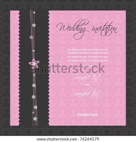 Wedding invitation. vector - stock vector