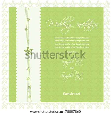 Wedding invitation. vector - stock vector