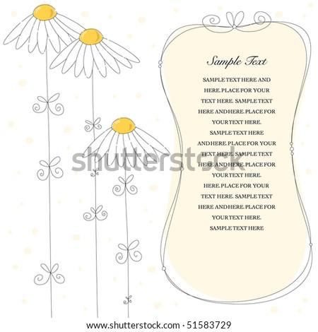 Wedding Invite Panel - stock vector