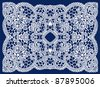 Wedding lace ornament frame - stock vector