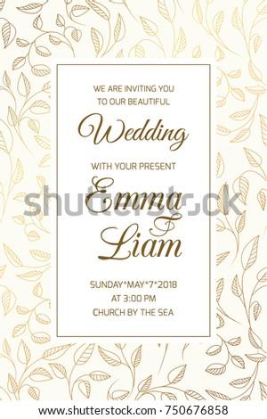 Wedding Marriage Event Invitation Rsvp Card Stock Photo (Photo ...