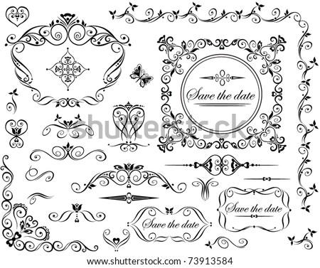 Wedding retro design - stock vector