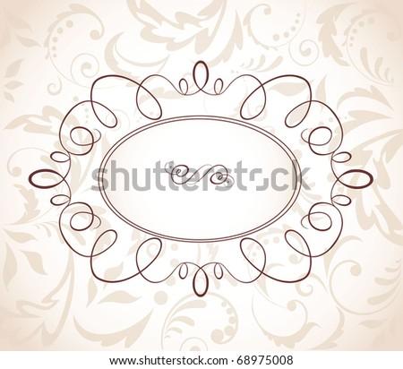 Wedding retro frame - stock vector