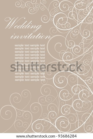 Wedding retro invitation