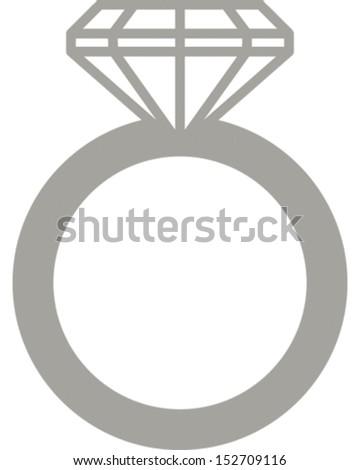 Wedding Ring - stock vector