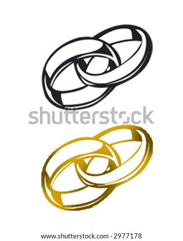 wedding ring - stock vector