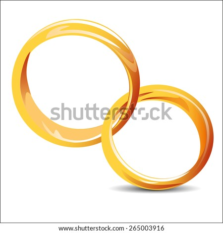 wedding rings icon - stock vector
