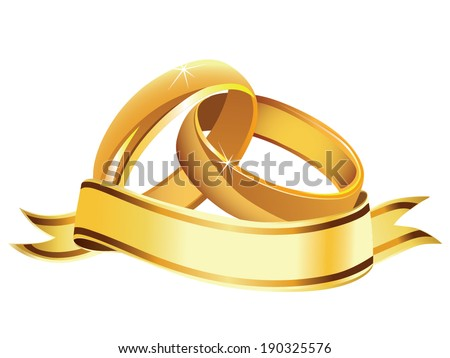 Wedding rings vector - stock vector