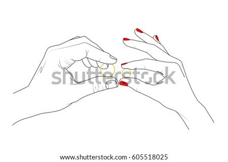 Wedding Hands Drawings