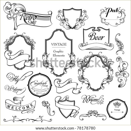 wedding scrap - stock vector