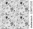 wedding - seamless pattern - stock photo