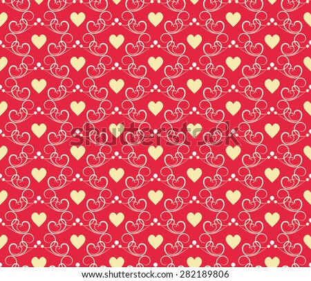 Wedding seamless vector pattern with hearts for wallpaper pattern fills web page background surface textures