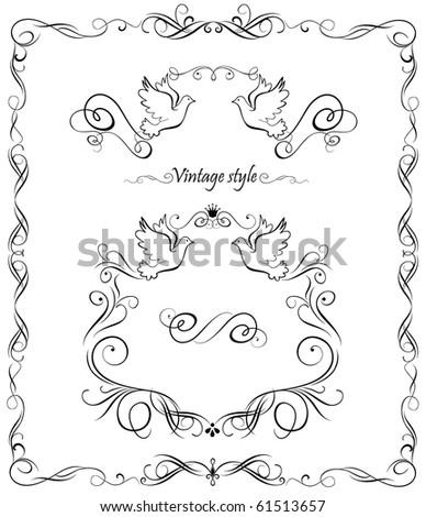 Wedding set - stock vector