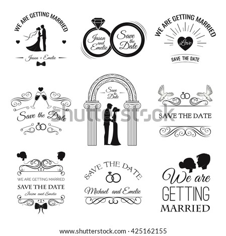 Wedding set dress couple ring invitation stock vector hd royalty wedding set dress couple ring invitation bride card heart stopboris Image collections