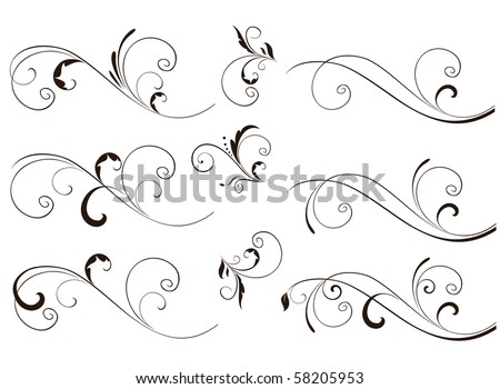 Wedding stencil.Set. - stock vector