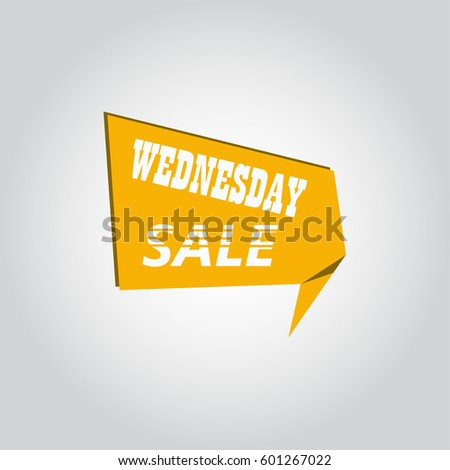 Wednesday sale sign banner