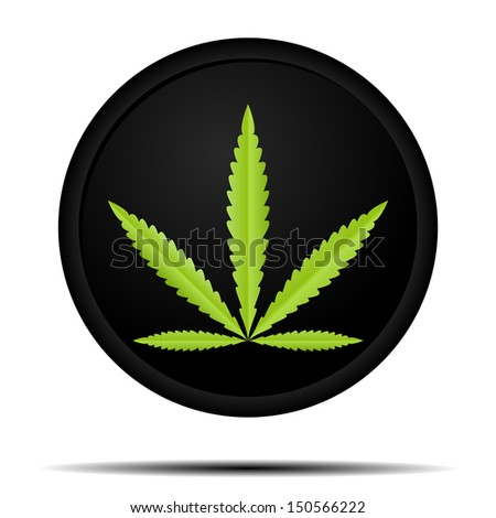Weed Icon - stock vector