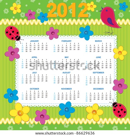 Week starts SUN and MON (hidden layer) - stock vector