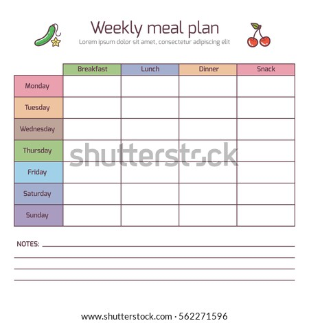 schedule weekly template