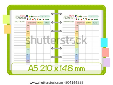 weekly meal planner calendar
