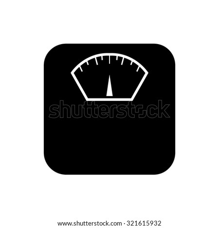 Weighing apparatus icon - stock vector