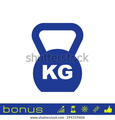 Weight icon - stock vector