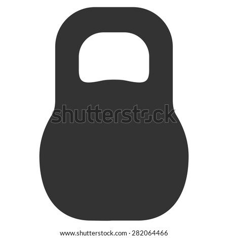 Weight icon from Basic Plain Icon Set. Vector images have gray colors, rounded angles, and placed on a white background. - stock vector
