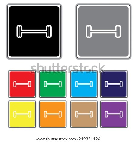 Weight Icons - stock vector
