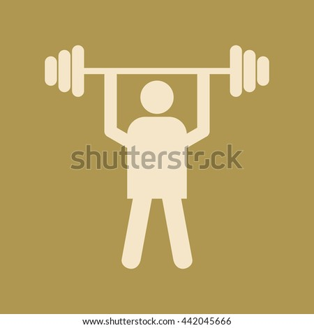 Weight Lifter Icon. - stock vector