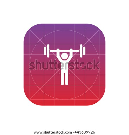 weight lifter icon - stock vector