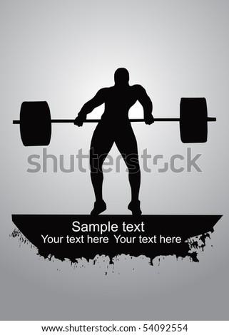 Weight-lifter vector - stock vector