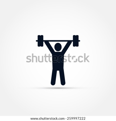 Weight lifting icon - stock vector
