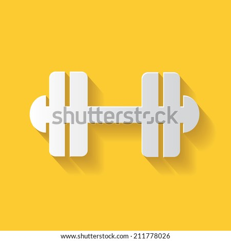 Weight lifting symbol,clean vector - stock vector