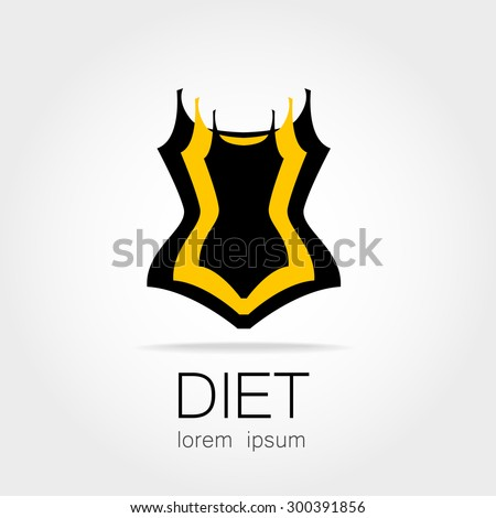 Weight Loss. Template sign for the diet, beauty and weight loss, women's health and sports club. - stock vector