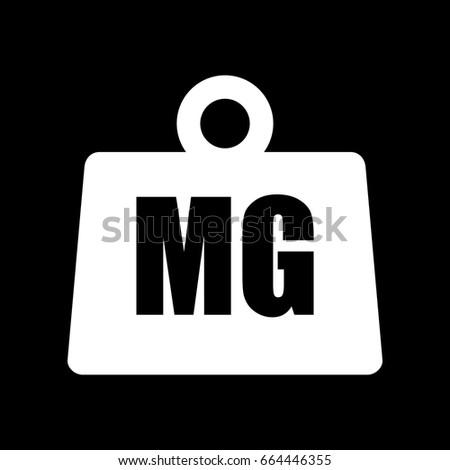 Weight Milligram Icon Stock Vector 664446355 Shutterstock