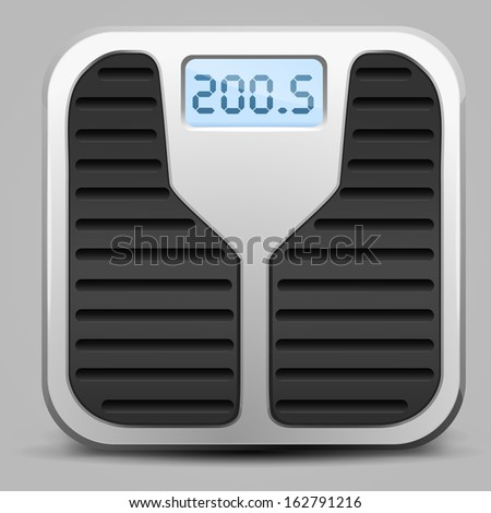 Weight Scale - stock vector