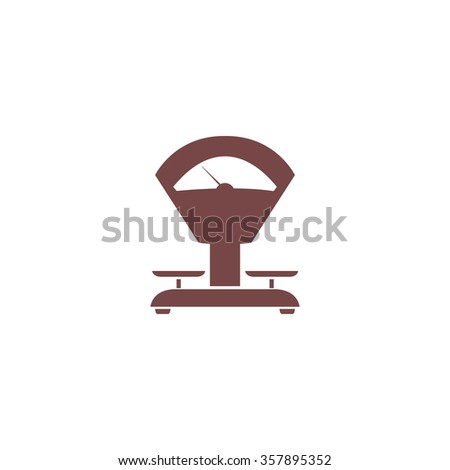 Weight Scale. Colorful vector icon. Simple retro color modern illustration pictogram. Collection concept symbol for infographic project and logo - stock vector