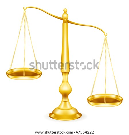 Weight Scale, gold - stock vector