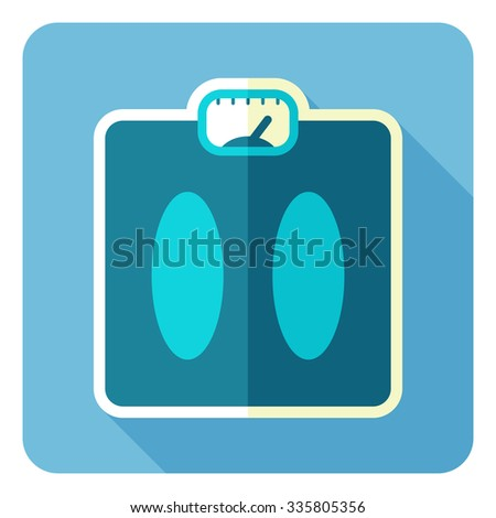 Weight Scale, scale, bathroom Scale. Vector illustration. Flat design. - stock vector