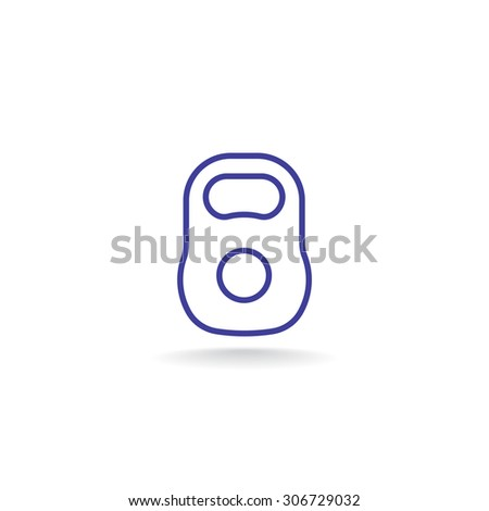 Weight sign icon, Kettle bell icon - Vector - stock vector