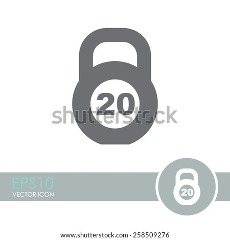 Weight vector icon. - stock vector