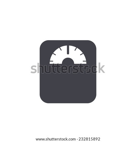 weighting icon - stock vector
