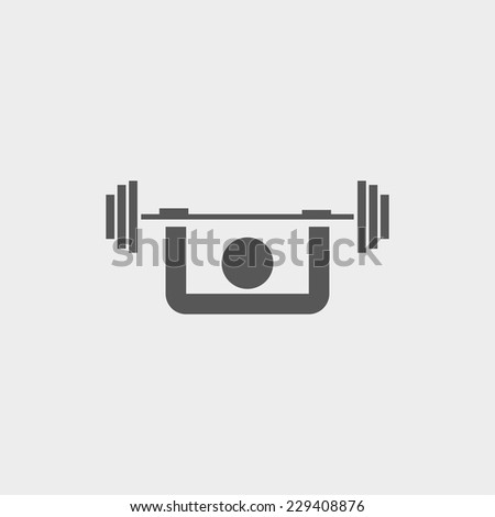 Weightlifter icon - stock vector
