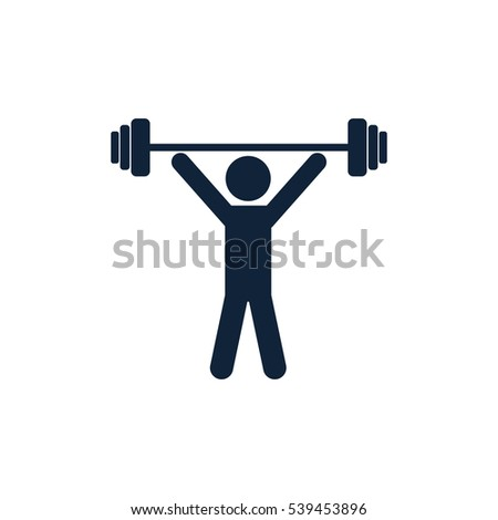 Weightlifting  icon on white background