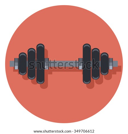 weights circle icon with shadow