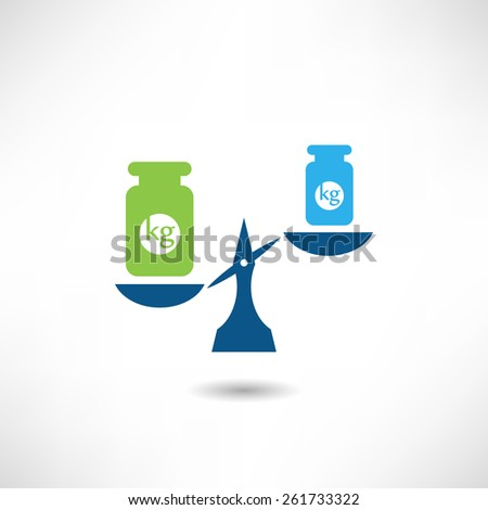 Weights icon - stock vector