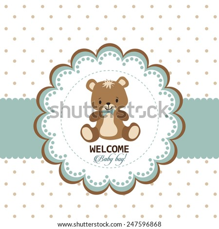 Welcome baby boy greeting card stock vector royalty free 247596868 welcome baby boy greeting card m4hsunfo