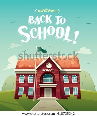 Welcome back to school! - stock vector