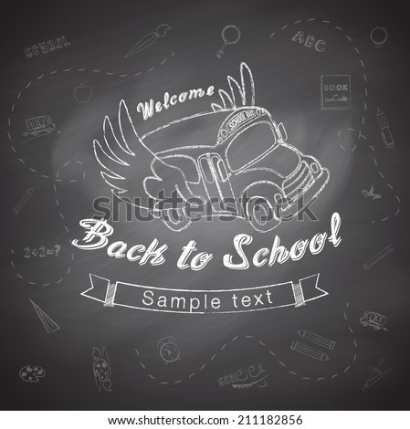 Welcome back to school. Vector Eps10 illustration. - stock vector